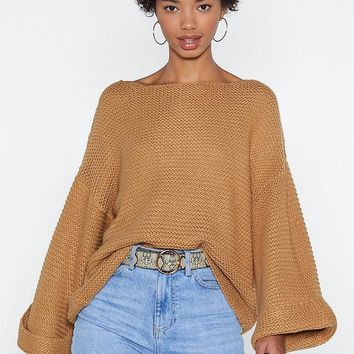 Run With Knit Oversized Sweater
