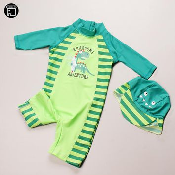 USEEMALL One Piece Swimsuit UV Swimwear Cartoon Swimming Suit for Kids Baby Boy Bathing Suits Children Swimming Clothes upf 50