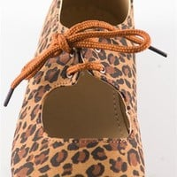 Round Toe Laced Flats - Leopard from Casual & Day at Lucky 21 Lucky 21