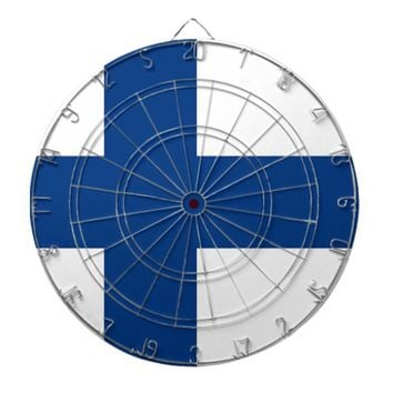 Dartboard with Flag of Finland