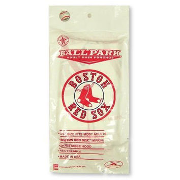 lightweight stadium poncho Boston Red Sox