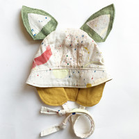 Limited Edition Sound Circle Bonnet in Cream/Mustard