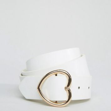 ASOS Heart Buckle Waist And Hip Belt at asos.com