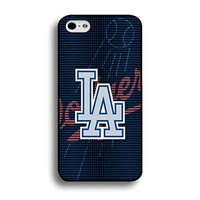 Style070 Awesome Collection Los Angeles Dodgers Printed Baseball Team Mark Solid Case Cover for Iphone 6 Plus / 5.5 Inch