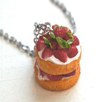 Strawberry Shortcake Necklace