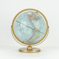 Vintage Replogle World Globe With Pivoting Axis 1960s