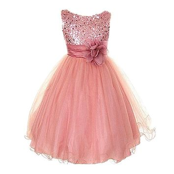 Baby girls clothing Wedding Party Dress Sleeveless Newborn children Princess Dress