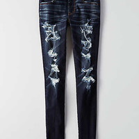 AEO Denim X4 Jegging, Bright Ocean Destroyed