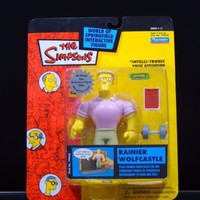Rainier Wolfcastle 2002 The Simpsons WOS Intelli-Tronic Action Figure Series 11