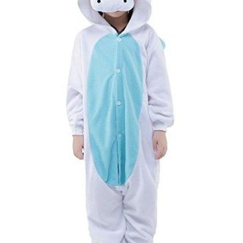 CREY6F Unisex Children Kids Stitch Unicorn Kugurumi Pajamas Children's Unisex Cosplay Costume Onesuit Halloween Party Animal Outfit