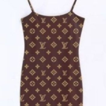 Womens Designer Inspired Louis Vuitton Cami Dress