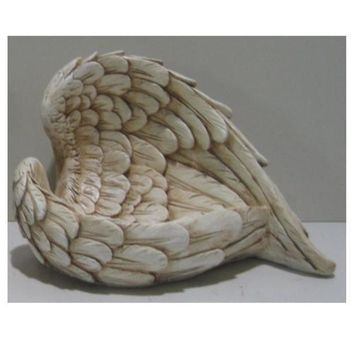 "10.75"" Decorative Angel Wings Religious Outdoor Garden Statue"