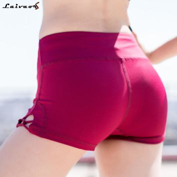 Women Sexy Yoga Shorts High Waist Sports shorts Hollow Cross Running Shorts Compression Fitness Leggings Bottom Workout Athletic