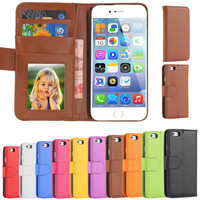 Fashion Flip PU Leather Case for iPhone 6 / 6S 4.7 & Plus 5.5
