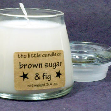 Brown Sugar & Fig Soy Candle Jar - Hand Poured and Highly Scented Container Candles