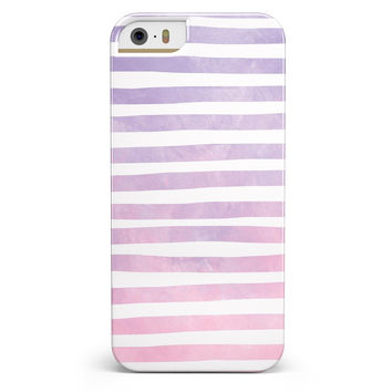 Purple WaterColor Ombre Stripes iPhone 5/5s or SE INK-Fuzed Case