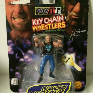 (TAS004393) - WWE WWF WCW LJN Wrestling Toy Biz Key Chain - Diamond Dallas Page
