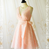 My Lady II - Baby Pink Lace Dress Vintage Design Spring Summer Sundress Pink Lace Party Tea Dress Bridesmaid Dress Lace Summer Dress XS-XL