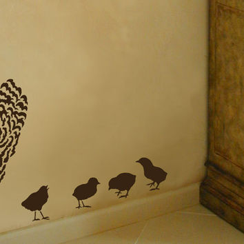 Four Little Chicks Stencil Kit - Reusable Easy stencils for Home Decor