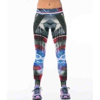 New 22 Styles Captain America 3D Printing Women Leggings Fitness Sexy New Stretch Dancing Workout Legging ropa deportiva mujer