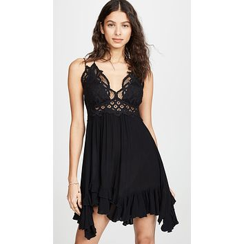 Free People Adella Slip Black