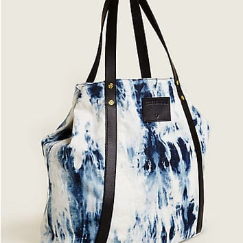 OVERSIZED TIE DYE DENIM TOTE
