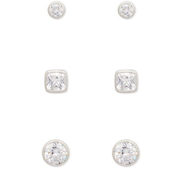 Cubic Zirconia Stud Set | Forever 21 - 1000222063