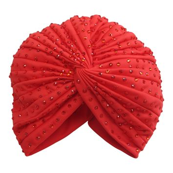Estelle Turban in Red