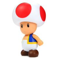Cute Toad Toys Super Mario Bros 10cm Mushroom Boy Action Figure Toy