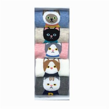 Cartoon Funny Animals Fox Owl Slippers Socks Funny Crazy Cool Novelty Cute Fun Funky Colorful
