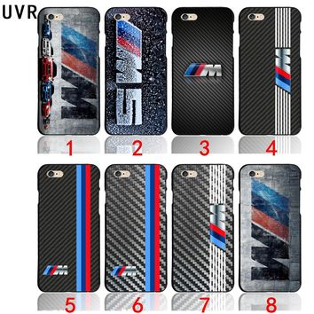 UVR For silm BMW M Series M3 M5 logo Phone Cases Cover For iPhone X 5 5S 6 6S 7 8 Plus 4.7 5.5 inch shell