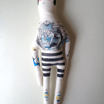 Picasso- Guernica-Tattoo Sleeve- Plush Doll- Art Doll