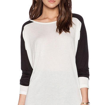 Vince Colorblock Dolman Tee in White