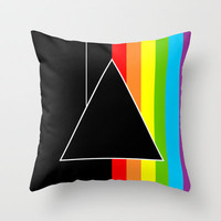 Tribute Pink Floyd | Dark Side Of The Moon Throw Pillow by Danny Ivan