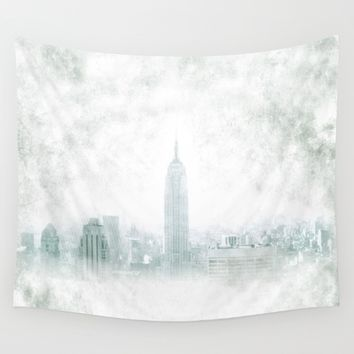 New York fantasy III Wall Tapestry by Guido Montañés