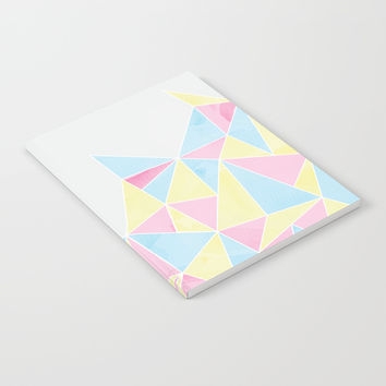 Pastel Watercolour Geometric Notebook by Tanyadraws