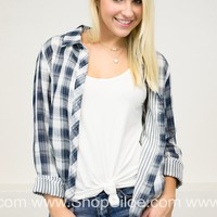 Country Road Plaid Top | Navy