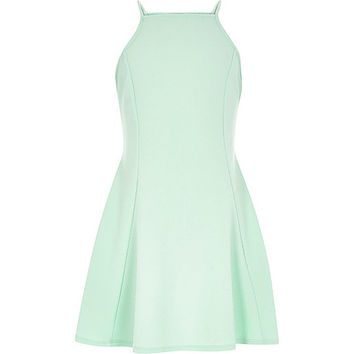 River Island Girls light turquoise fit and flare dress