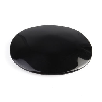 Black Obsidian Scrying Mirror Crystal Gemstone Healing Stone Feng Shui Crafts Home Desk Decor Gift 5.5cm*7.3cm