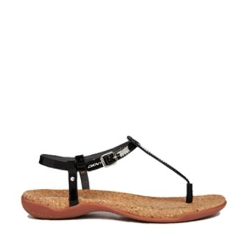 DKNY Active Sabrina Toe Post Flat Sandals - Black