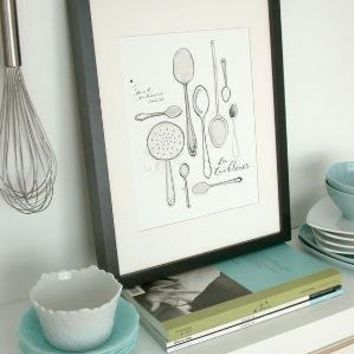 Les Cuilleres 85x11 Art culinaire Collection by evajuliet on Etsy