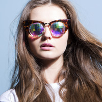 h0les Tortoise Cat Eye Sunglasses