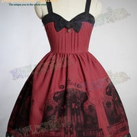 """Baroque Pipe Organ"" Gothic&Classical Lolita Back Lacing-up JSK/Dress*3color Instant shipping"
