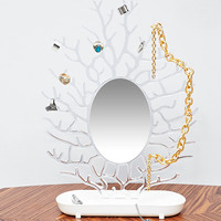 Coral Mirror Jewellery Stand - Urban Outfitters