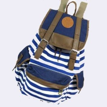 Rbenxia Unisex Canvas Backpack School Bag Super Cute Stripe School College Laptop Bag for Teens Girls Boys Students Pink