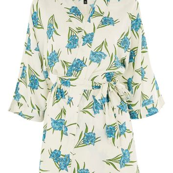 Botanical Print Robe - Sleepwear - Clothing