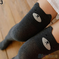Women's Fashion Cute 3D Cartoon Animal Pattern Thigh Stockings Over Knee High Knit Socks   01-041