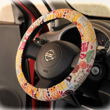 Steering wheel cover for wheel car accessories Funky Owl Wheel cover