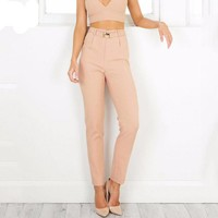 High Waist Pants With Sashes