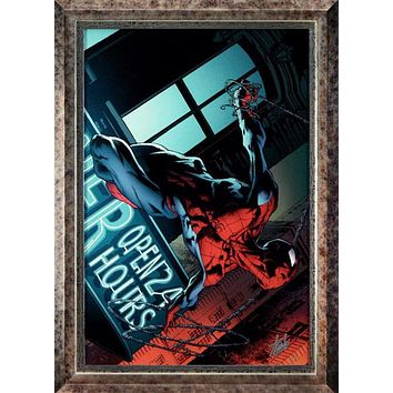 The Amazing Spider-Man #592 - Limited Edition Artist Proof Giclee on Canvas by Marvel Comics and Joe Quesada Hand Signed by Stan Lee